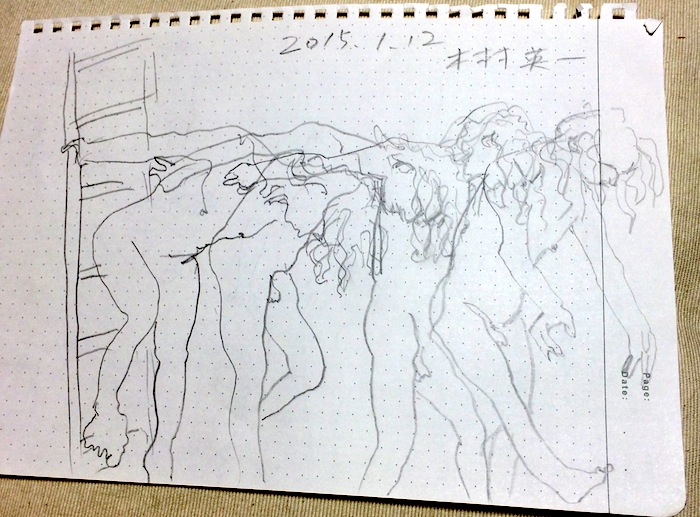 川口隆夫 『Slow Body』 2015年1月12日 恵比寿 画:木村英一