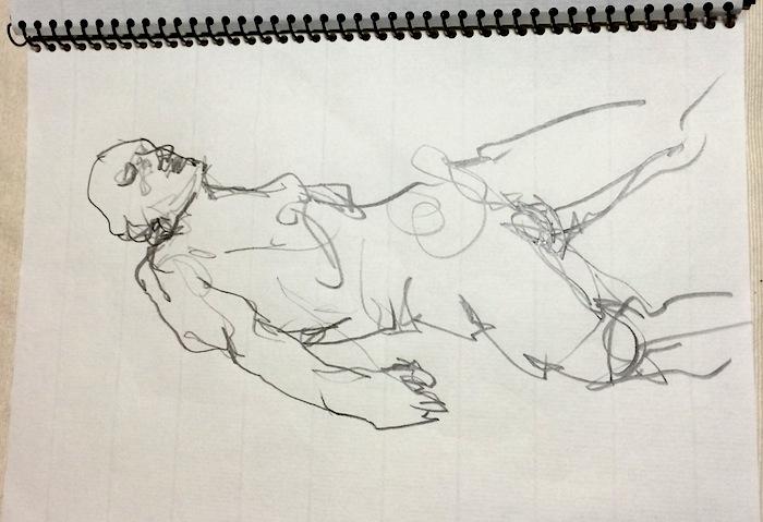 川口隆夫 『Slow Body』 2014年8月9日 JKダンスアトリエ 画:中西レモン