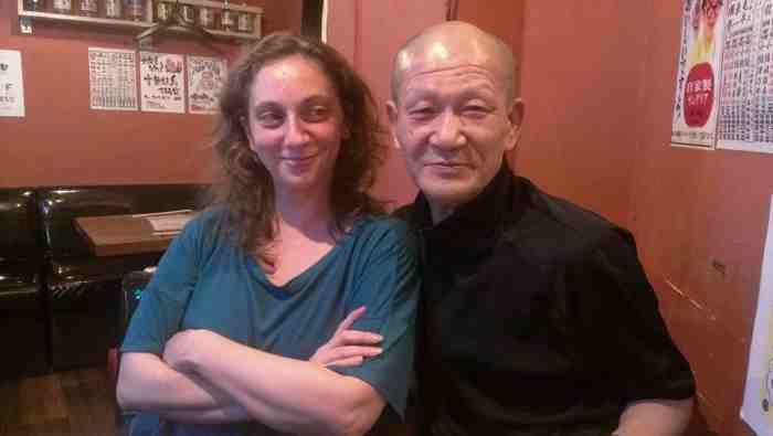 筆者と室伏鴻  photo:Kimiko Watanabe
